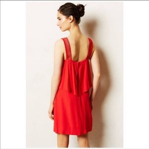 Anthropologie Maeve Red Dress